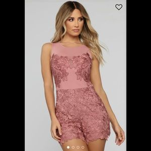 Fashion Nova Forbidden Flower Romper M